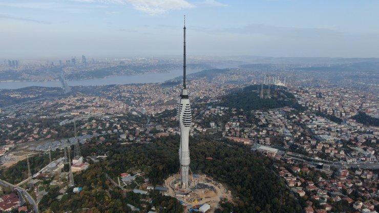 Üsküdar Çamlıca Kulesi açılış için gün sayıyor
